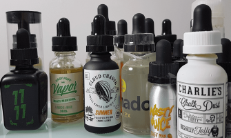 Vaping device and Variety packs of e-liquids